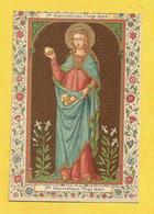 IMAGE PIEUSE HOLY CARD SAINT AUGUSTIN BRUGES BRUGGES SAINTE EMERENTIENNE MARTYR - Religione & Esoterismo