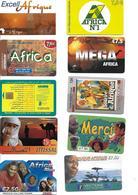 AFRIQUE - Télécartes