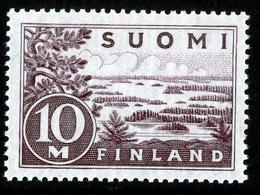 FINLAND 1930-1943 Definitive 10M Light Dark Lilac Type II, MI 156 IIb** MNH - Nuovi