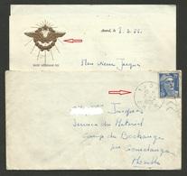 """CHER / Daguin Muet AVORD / Papier Entete Militaire """" Base Aérienne 702 """" / 1955 - Postmark Collection (Covers)"""