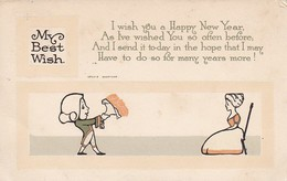 PC My Best Wish - Happy New Year - Cartoon - Ca. 1915 (42981) - New Year