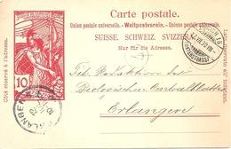 PK 32  Zürich 15 Unterstrass - Erlangen D          1900 - Postwaardestukken