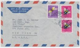 Portogerechte Mischfrankatur Auf Luftpostbrief Gelaufen - BERN - NEW YORK - Pro Juventute