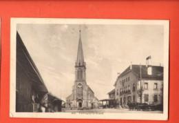 TSO-24 Farvagny-le-Grand Gibloux Eglise Et Attelage .Cachets Favargny Et Le Mouret 1917, Savigny 942 - FR Fribourg