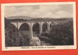 TSO-29 Fribourg Pont De Pérolles Et Cousimbert. Savigny 1904. Circulé 1925 - FR Fribourg
