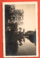 TSO-33 Broc Gruyère Eglise Avec Reflet Parfait Dans La Rivière Circulé 192? Glasson - FR Fribourg