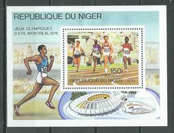 Niger Bloc-feuillet YT N°16 Jeux Olympiques De Montréal 1976 Neuf/charnière * - Niger (1960-...)