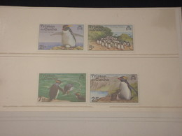 TRISTAN DA CUNHA -  1974 PINGUINI 4 VALORI - NUOVI(++) - Tristan Da Cunha
