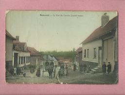 CPA Abîmée - Beauval  -  La Rue Du Candas  -(Partie Basse) - Beauval