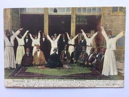 Turkey Türkei Turquie 1910, Les Derviches Tourneurs, Galata To Belgique - Turkije