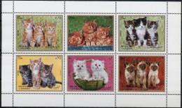 1972 SHARJAH Cats Sheetlets Complete Set 6 Values MNH - Sharjah