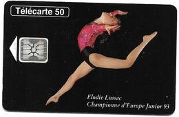 Telecarte 50 - Elodie Lussac Championne D'Europe Junior 93 - Sport