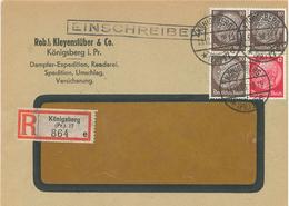 R-Brief Königsberg 1933 Hindenburg Nach Berlin (Ankunftsstempel) Kleyenstüber Dampfer-Expedition Spedition Reeder [A5] - Germania