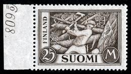 FINLAND 1930-1943 Definitive 25M Olive-grey, MI 157b**MNH - Nuovi