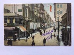 Turkey Türkei Turquie 1906, Constantinople To Belgique (Vilvorde),  Grand Rue De Péra, - Turkije