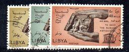 APR2381 - LIBIA 1966 , Serie Yvert N. 26/28 Usato   (2380A)  Posta Aerea - Libia