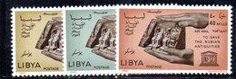 APR2382 - LIBIA 1966 , Serie Yvert N. 26/28 ***  MNH  (2380A)  Posta Aerea NUBIA - Libia