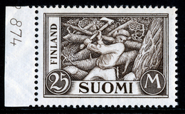 FINLAND 1930-1948 Definitive 25M Brownish-grey, MI 157c**MNH - Nuovi