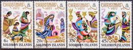 SOLOMON ISLANDS 1977 SG #345-48 Compl.set Used Christmas - British Solomon Islands (...-1978)