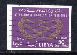 APR2386 - LIBIA 1965, Posta Aerea N. 25 NON Dentellato  Usato  (2380A) - Libia