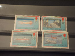 FALKLAND - 1993 PESCA 4 VALORI - NUOVI(++) - Islas Malvinas