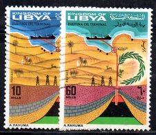 APR2387 - LIBIA 1968, Serie Yvert N. 324/325  Usato  (2380A) Zueitina - Libia