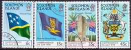 SOLOMON ISLANDS 1978 SG #360-63 Compl.set Used Independence - Solomon Islands (1978-...)