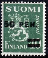 FINLAND 1931 Definitive Lion Surcharged, MI 170 II**MNH - Nuovi
