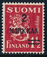 FINLAND 1931 Definitive Lion Surcharged, MI 202**MNH - Nuovi