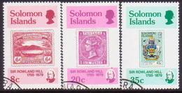 SOLOMON ISLANDS 1979 SG #384-87 Compl.set+m/s Used Sir Rowland Hill - Solomon Islands (1978-...)