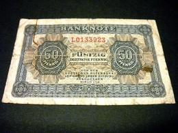 ALLEMAGNE 50 Deutsche Pfennig 1948, Pick 8 B , GERMANY RDA DEMOCRATIC REPUBLIC - 50 Deutsche Pfennig