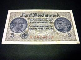 ALLEMAGNE 5 Reichsmark 1940-1945, Pick R 138 A, GERMANY TERRITOIRES OCCUPES - [ 9] Duitse Bezette Gebieden