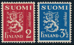 FINLAND 1936 Definitive Lions, MI 197-198**MNH - Nuovi