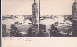 Carte Stéréo Voyage Aux Indes Bangkok  Vue Prise Du Watt-Cheng - Thaïlande
