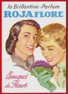 """Carte Parfumée """"La Brillantine-Parfum ROJA FLORE"""" Rojaflore """"Bouquet De Fleurs"""" * Illustrateur Kellen ** Pub Publicité - Cartes Parfumées"""
