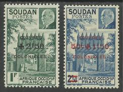 SOUDAN FRANCAIS 1944 YT 133/134** SANS CHARNIERE NI TRACE - Sudan (1894-1902)