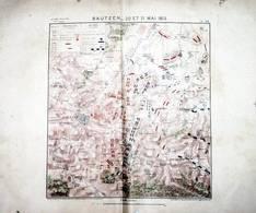 CARTE HISTORIQUE MILITAIRE - NAPOLEON - BATAILLE DE BAUTZEN Le 20 Et 21 Mai 1813 - Cartes