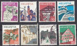 HELVETIA - SUISSE - SVIZZERA - 1973 - Lotto Di 8 Valori Usati: Yvert 934, 935, 937/942. - Usati