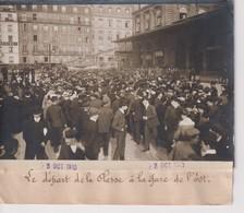 LE DÉPART DE LA CLASSE A LA GARE DE L'EST  18*13CM Maurice-Louis BRANGER PARÍS (1874-1950) - Trenes