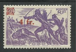TOGO 1944 YT 231** SANS CHARNIERE NI TRACE - SURCHARGE - Togo (1914-1960)