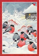 Postal Stationery - Birds - Bullfinches - Winter Landscape - Red Cross 1997 - Suomi Finland - Postage Paid - Finlande