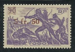 TOGO 1944 YT 233** SANS CHARNIERE NI TRACE - SURCHARGE - Togo (1914-1960)