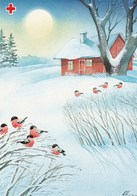 Postal Stationery - Birds - Bullfinches - Winter Landscape - Red Cross 1992 - Suomi Finland - Postage Paid - Finlande