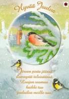 Postal Stationery - Birds - Bullfinches - Winter Landscape - Finnish Cancer Foundation - Suomi Finland - Postage Paid - Finlande