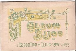 59 LILLE  ALBUM BIJOU De 1er EXPOSITION LILLE 1902  - Album De 8 Photos Format 8X12CM - Lille