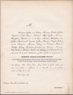 TOULOUSE BRUXELLES Charles-Alexandre HAILLOT Général De Brigade Officier Ordre Impérial Légion D'Honneur  1854 58 Ans - Décès