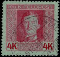 Austria, Fieldpost 1917, 4 Kr 1 Value, Cancelled - Austria