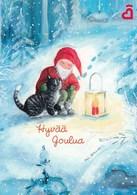 Postal Stationery - Birds - Bullfinches - Elf Meeting Cat - Heart Association - Suomi Finland - Postage Paid - RARE - Finlande