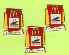 3 Pin's Mac Do McDonald's Coupe Du Monde Français Anglais Espagnol (Foot France98) - #659 - McDonald's