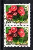 2016 Poland Polen Pologne Mi. 4871 Paar Gestempelt, Flora - Flowers And Fruits; Small Cranberry, S. Scan - 1944-.... Republik